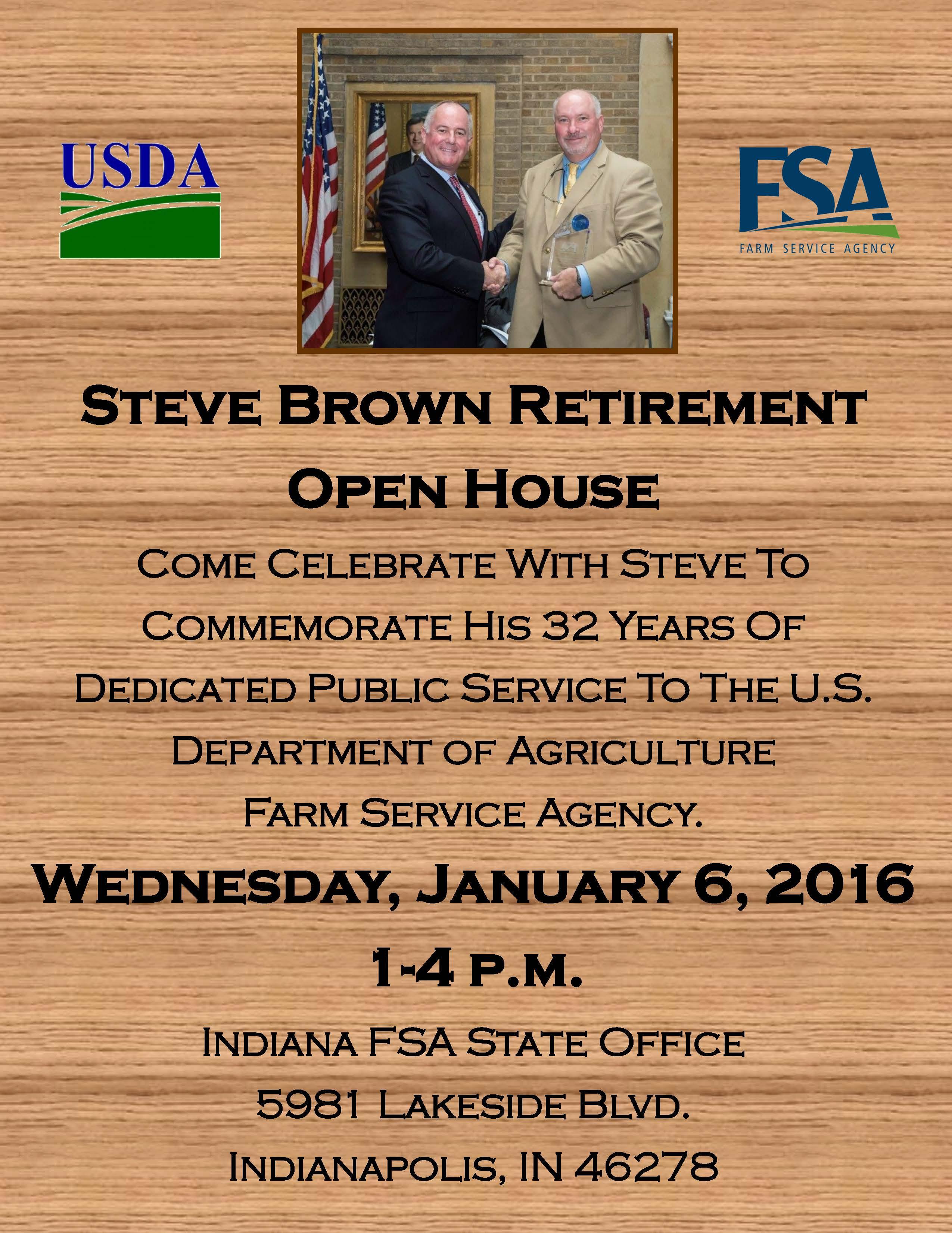 Steve Brown Open House Flyer 1 6 16