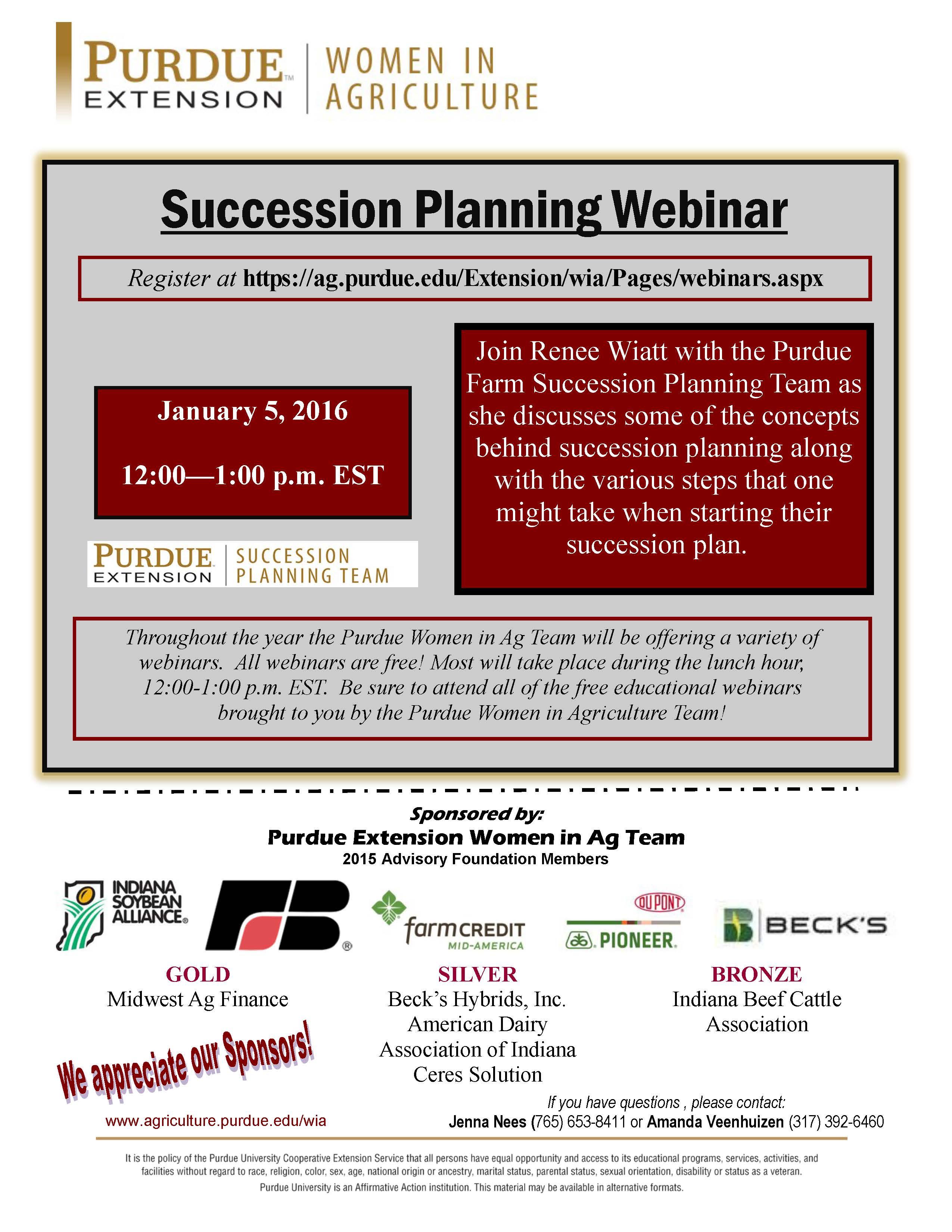 WIA Webinar - Succession Planning